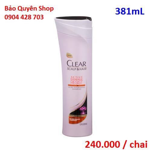 Dầu Gội Phục Hồi Tóc Hư Tổn Clear Active Damage Resist Ultra Nourishing Shampoo 381ml